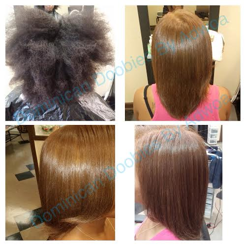 Dominican Blowout On Natural African American Hair